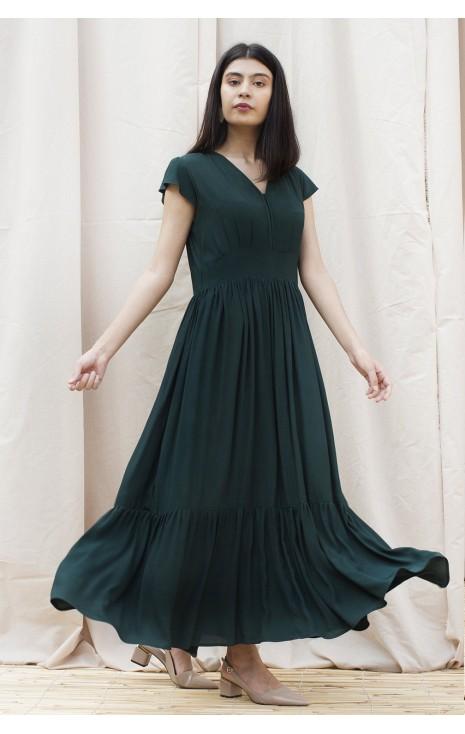 Bottle Green Dress