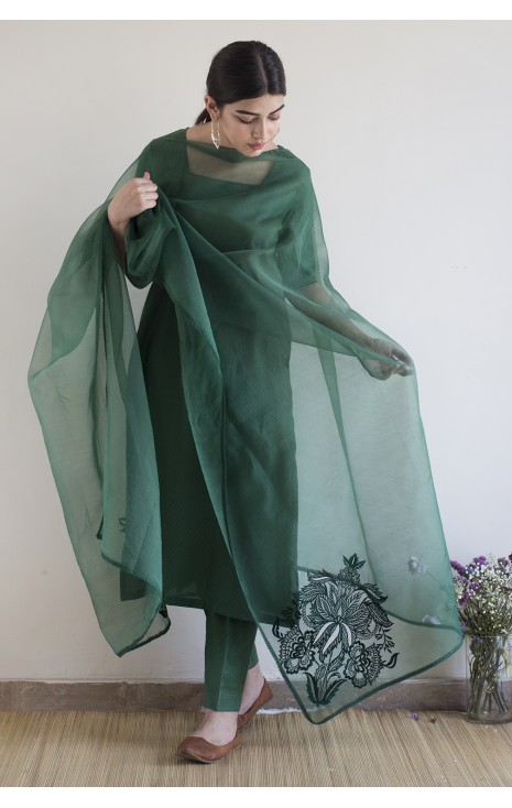 Bottle Green Outfit
