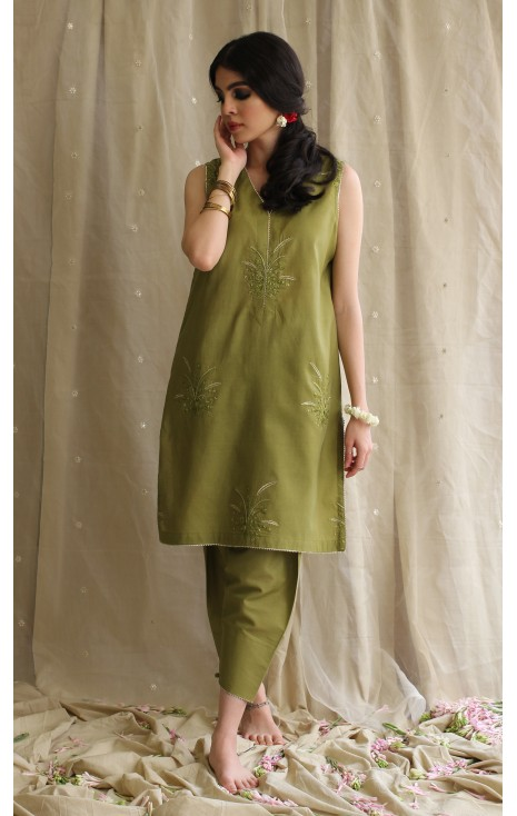 Mehndi Green Outfit