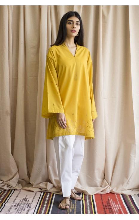 Mustard Lasercut Outfit